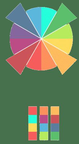 teoria del color-esquema cuadrado