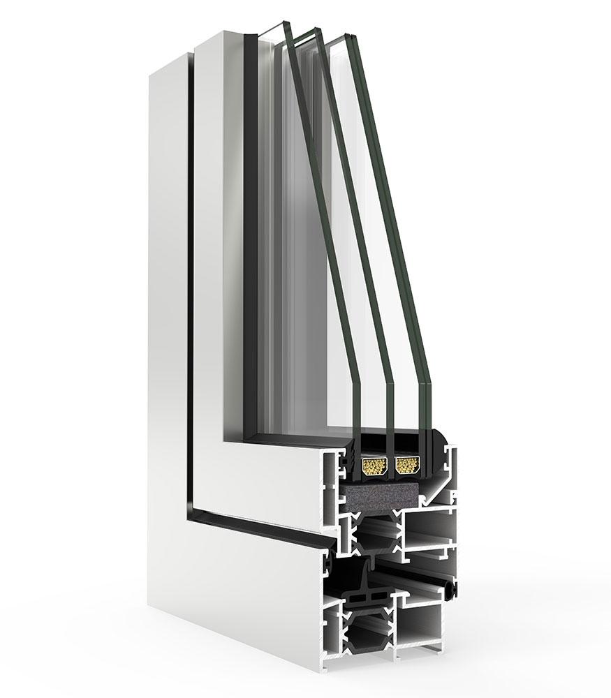 escoger ventanas de aluminio con rotura de puente termico