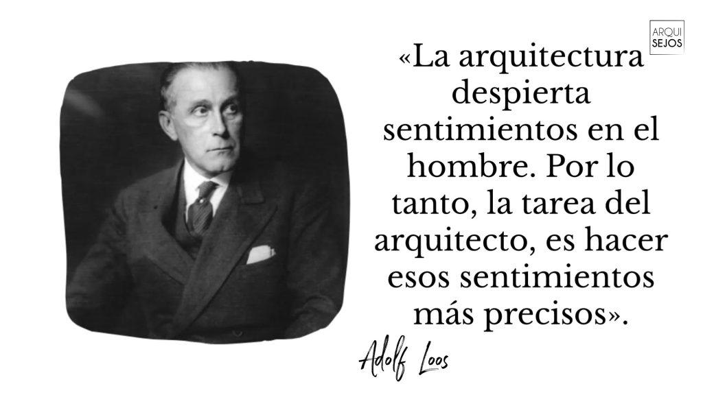 Frases célebre del arquitecto Adolf Loos