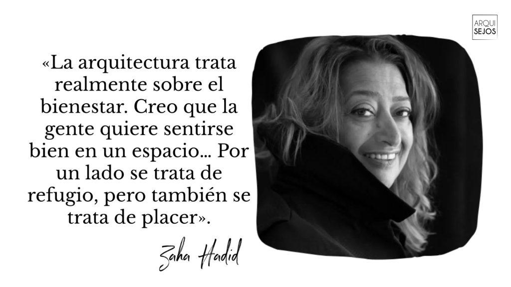 Cita de la arquitecta Zaha Hadid