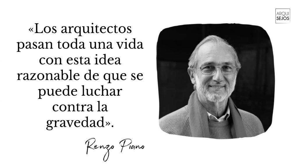 Frase de Renzo Piano