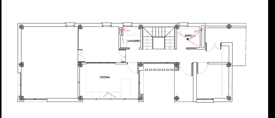 plano de saneamiento de una vivienda unifamiliar